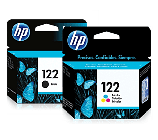 Pack de Cartuchos de Tinta HP 122 Negro + Tricolor Original