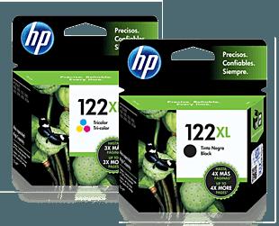 Pack de Cartuchos de Tinta HP 122XL Negro + Tricolor