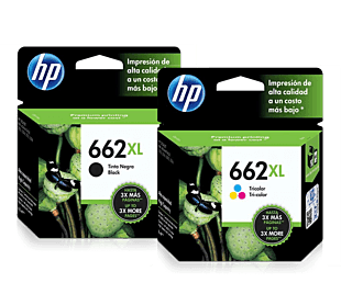 Pack de Cartuchos de Tinta HP 662XL Negro + Tricolor