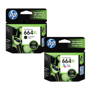 Pack de Cartuchos de Tinta HP 664XL Negro + Tricolor