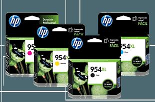 Pack de Cartuchos de Tinta HP 954XL Negro + Magenta + Amarillo + Cian