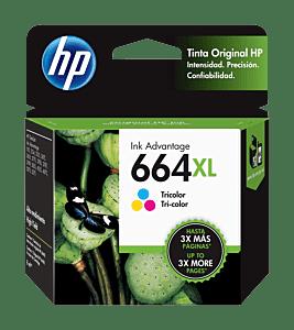 Cartucho de Tinta HP 664XL Tricolor Original